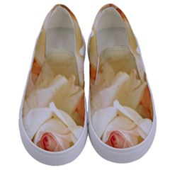Roses Vintage Playful Romantic Kids  Canvas Slip Ons