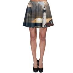 Lighthouse Beacon Light House Skater Skirt