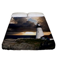 Lighthouse Beacon Light House Fitted Sheet (king Size)