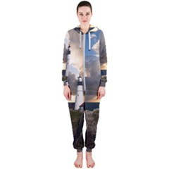 Lighthouse Beacon Light House Hooded Jumpsuit (ladies)