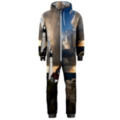 Lighthouse Beacon Light House Hooded Jumpsuit (men)