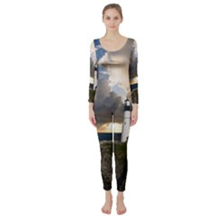 Lighthouse Beacon Light House Long Sleeve Catsuit
