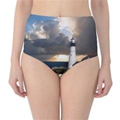 Lighthouse Beacon Light House High Waist Bikini Bottoms