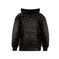 Grunge Pattern Black Triangles Kids  Pullover Hoodie