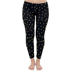 Grunge Pattern Black Triangles Classic Winter Leggings