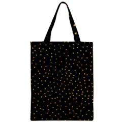 Grunge Pattern Black Triangles Zipper Classic Tote Bag