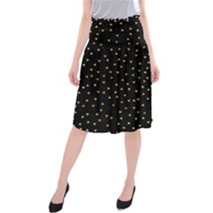 Grunge Pattern Black Triangles Midi Beach Skirt