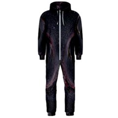Black Hole Blue Space Galaxy Star Hooded Jumpsuit (men)