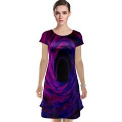 Black Hole Rainbow Blue Purple Cap Sleeve Nightdress