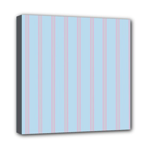Bleu Pink Line Vertical Mini Canvas 8  X 8