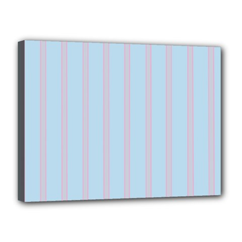 Bleu Pink Line Vertical Canvas 16  X 12