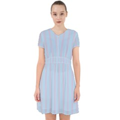 Bleu Pink Line Vertical Adorable In Chiffon Dress