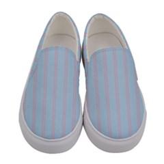 Bleu Pink Line Vertical Women s Canvas Slip Ons