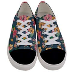 Aloha Hawaii Flower Floral Sexy Women s Low Top Canvas Sneakers