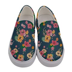 Aloha Hawaii Flower Floral Sexy Women s Canvas Slip Ons
