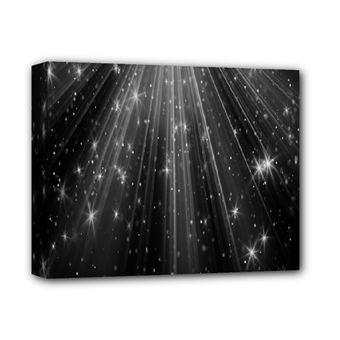 Black Rays Light Stars Space Deluxe Canvas 14  X 11