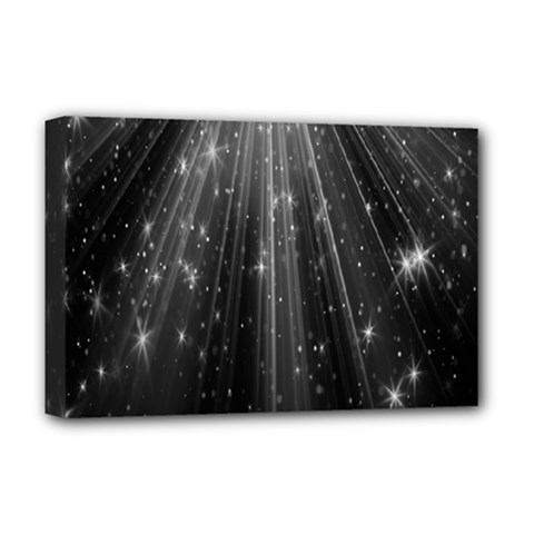 Black Rays Light Stars Space Deluxe Canvas 18  X 12