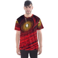 Black Red Space Hole Men s Sports Mesh Tee