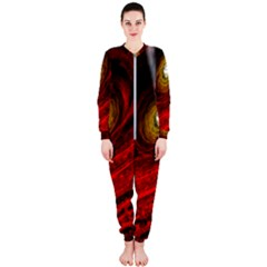 Black Red Space Hole Onepiece Jumpsuit (ladies)
