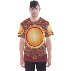 Badge Gilding Sun Red Oriental Men s Sports Mesh Tee