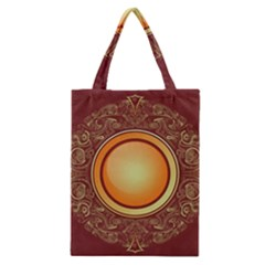 Badge Gilding Sun Red Oriental Classic Tote Bag