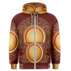 Badge Gilding Sun Red Oriental Men s Zipper Hoodie