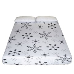 Black Holiday Snowflakes Fitted Sheet (california King Size)