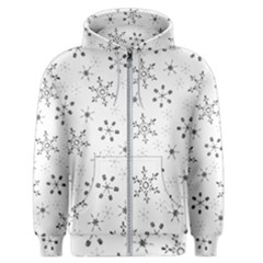 Black Holiday Snowflakes Men s Zipper Hoodie