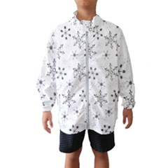 Black Holiday Snowflakes Wind Breaker (kids)