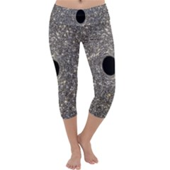 Black Hole Blue Space Galaxy Star Light Capri Yoga Leggings