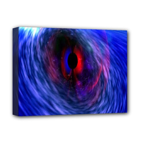 Blue Red Eye Space Hole Galaxy Deluxe Canvas 16  X 12