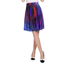 Blue Red Eye Space Hole Galaxy A Line Skirt