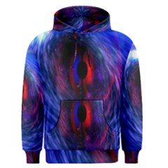 Blue Red Eye Space Hole Galaxy Men s Pullover Hoodie