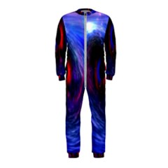 Blue Red Eye Space Hole Galaxy Onepiece Jumpsuit (kids)
