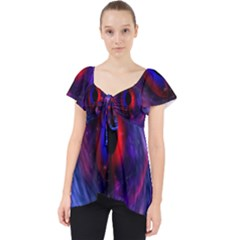 Blue Red Eye Space Hole Galaxy Lace Front Dolly Top