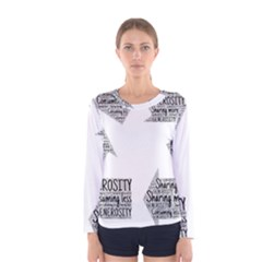 Recycling Generosity Consumption Women s Long Sleeve Tee