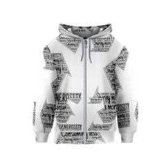 Recycling Generosity Consumption Kids  Zipper Hoodie