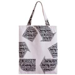 Recycling Generosity Consumption Zipper Classic Tote Bag