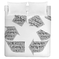 Recycling Generosity Consumption Duvet Cover Double Side (queen Size)