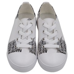 Recycling Generosity Consumption Kids  Low Top Canvas Sneakers