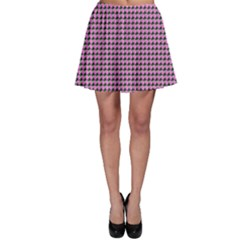 Pattern Grid Background Skater Skirt