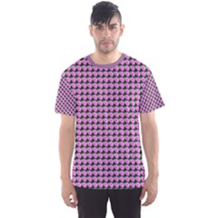 Pattern Grid Background Men s Sports Mesh Tee