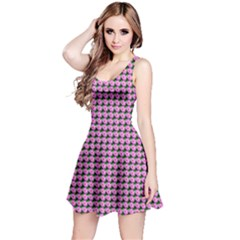 Pattern Grid Background Reversible Sleeveless Dress