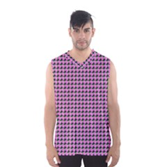 Pattern Grid Background Men s Basketball Tank Top