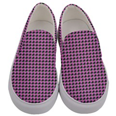 Pattern Grid Background Men s Canvas Slip Ons