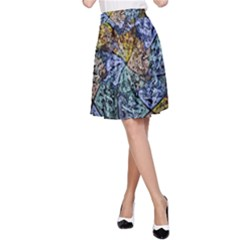 Multi Color Tile Twirl Octagon A Line Skirt