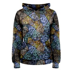 Multi Color Tile Twirl Octagon Women s Pullover Hoodie