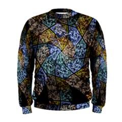 Multi Color Tile Twirl Octagon Men s Sweatshirt