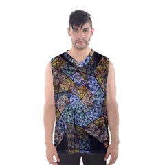 Multi Color Tile Twirl Octagon Men s Basketball Tank Top