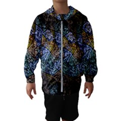 Multi Color Tile Twirl Octagon Hooded Wind Breaker (kids)